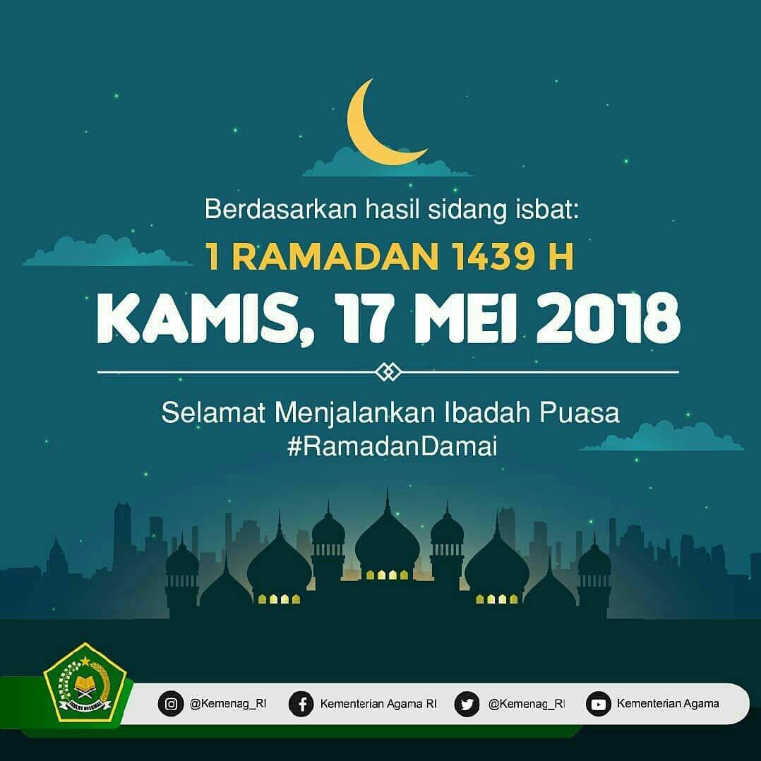 Awal puasa ramadhan 1439h jatuh pada hari kamis 17 mei 2018 kopisruput
